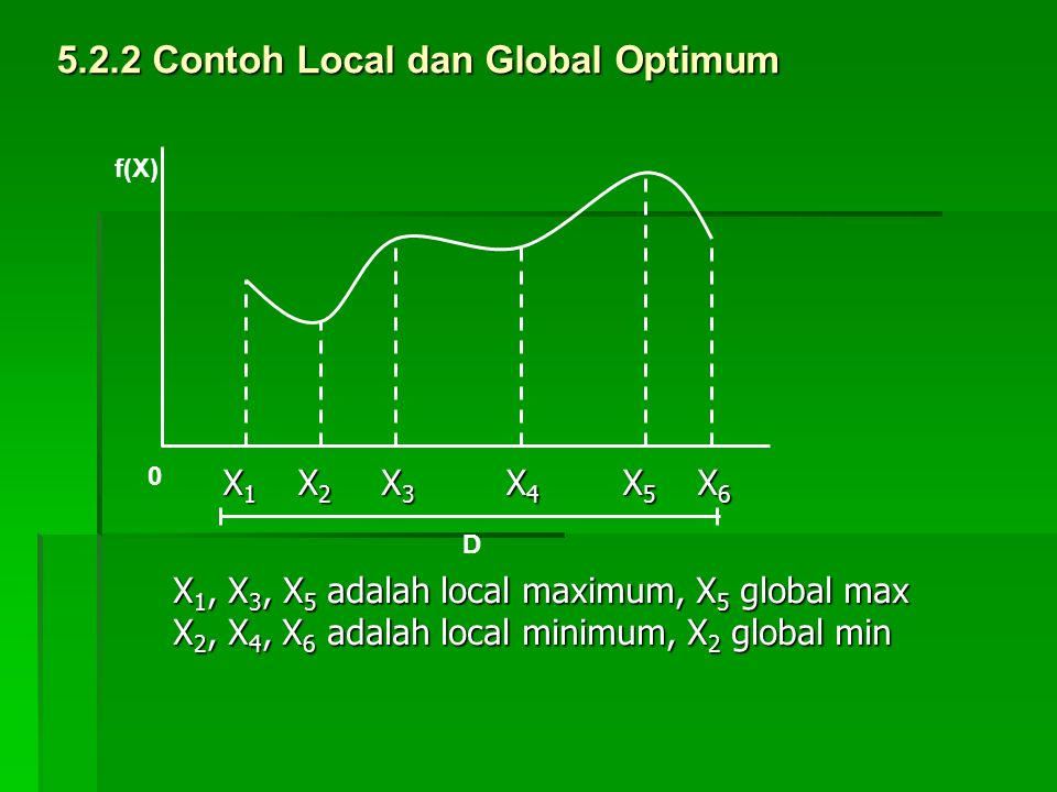 5.2.2 Contoh Local dan Global Optimum