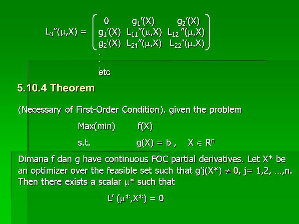 5.10.4 Theorem 0 g1'(X) g2'(X) g1'(X) L11 (,X) L12 (,X) L3 (,X) =
