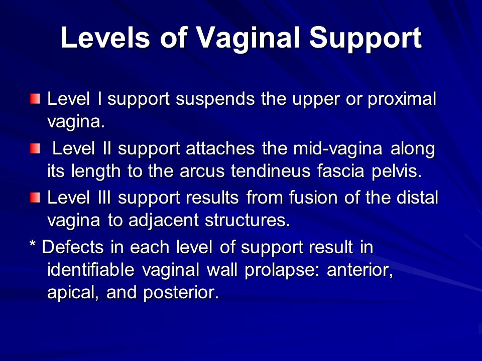 Levels of Vaginal Support