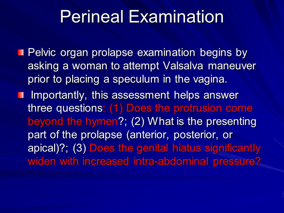 Perineal Examination