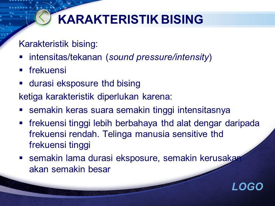 KARAKTERISTIK BISING Karakteristik bising:
