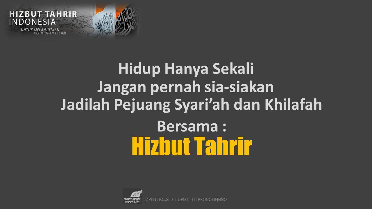Jangan pernah sia-siakan Jadilah Pejuang Syari'ah dan Khilafah