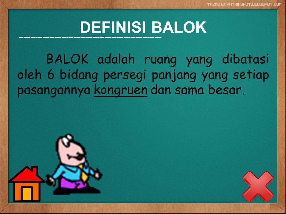 DEFINISI BALOK ------------------------------------------------------------