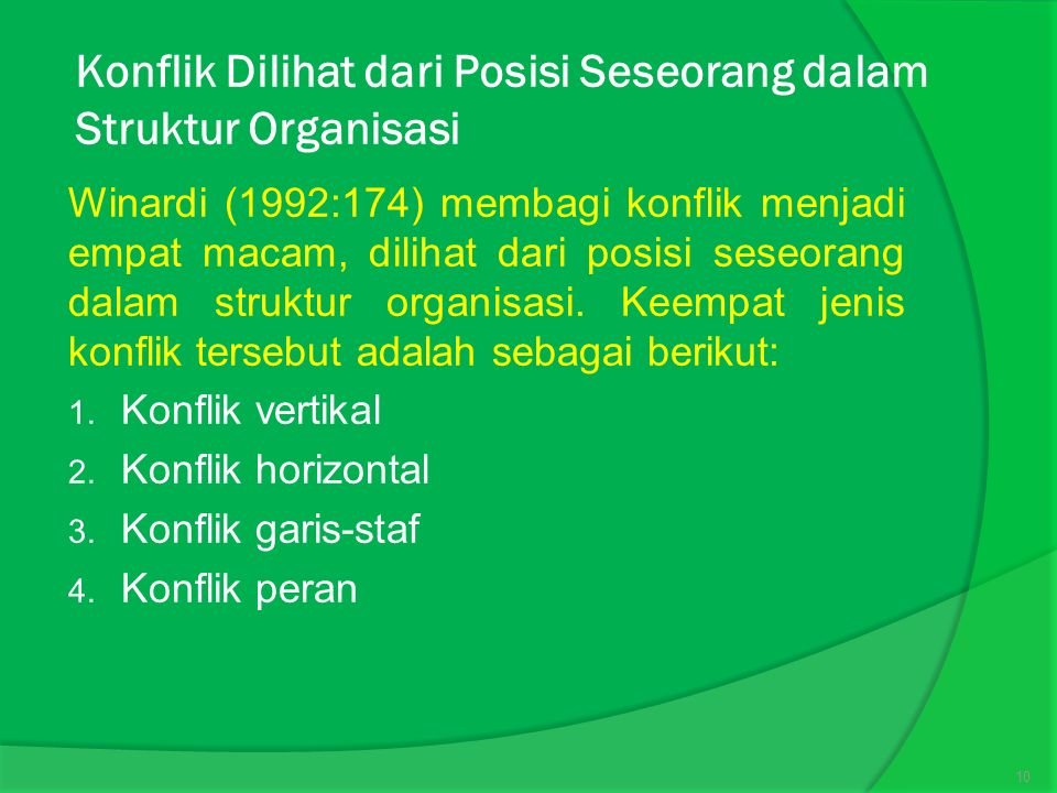 Konflik Dilihat dari Posisi Seseorang dalam Struktur Organisasi
