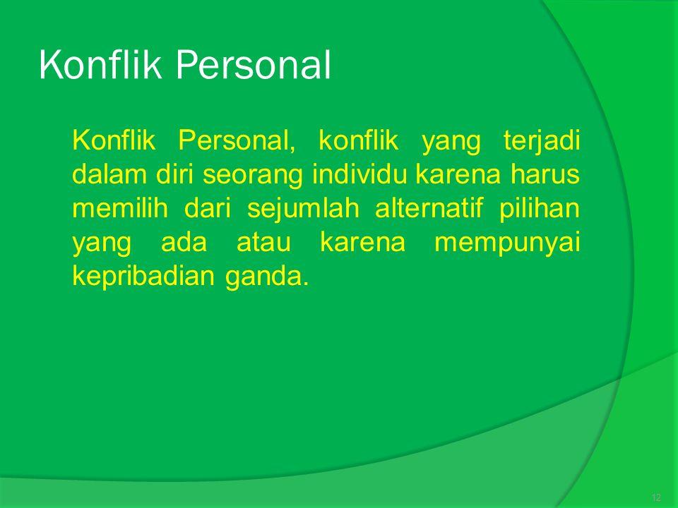 Konflik Personal