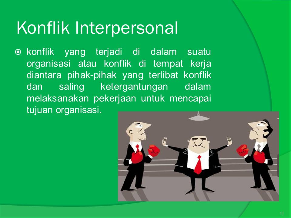 Konflik Interpersonal