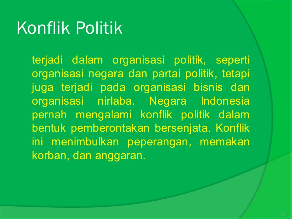 Konflik Politik