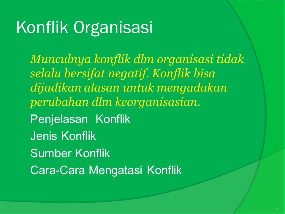 Konflik Organisasi