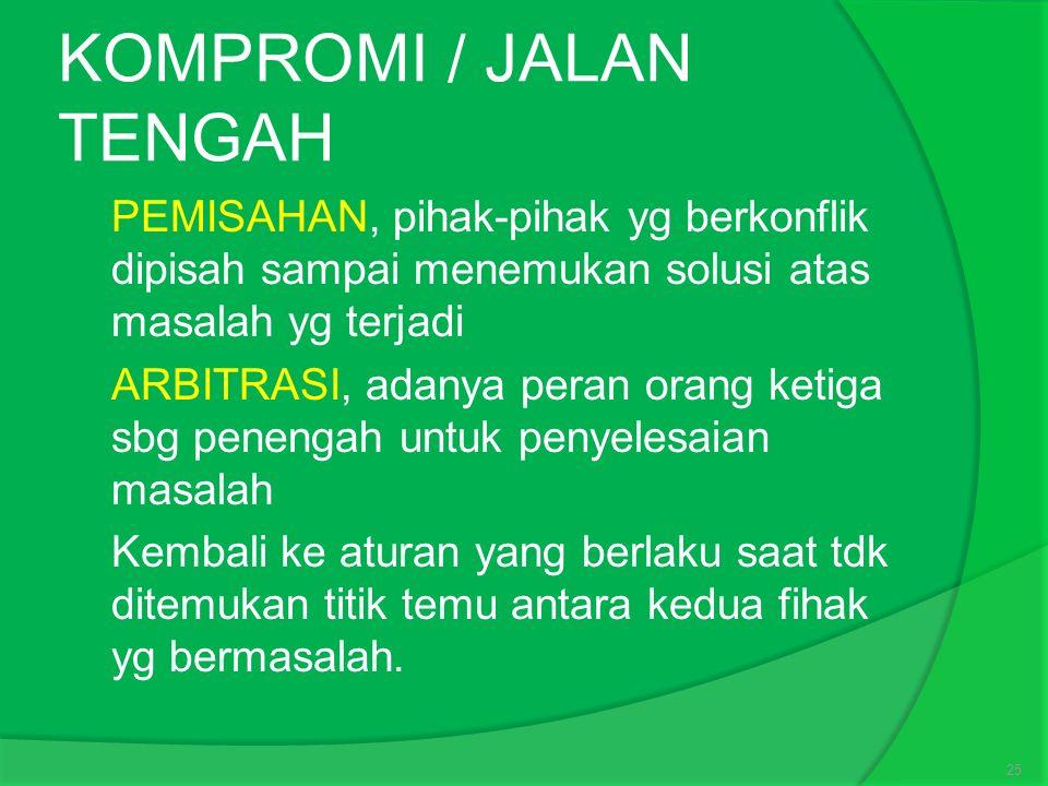 KOMPROMI / JALAN TENGAH