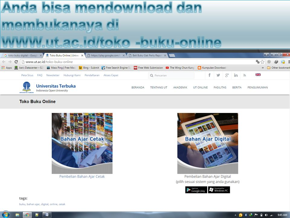 Anda bisa mendownload dan membukanaya di WWW. ut. ac