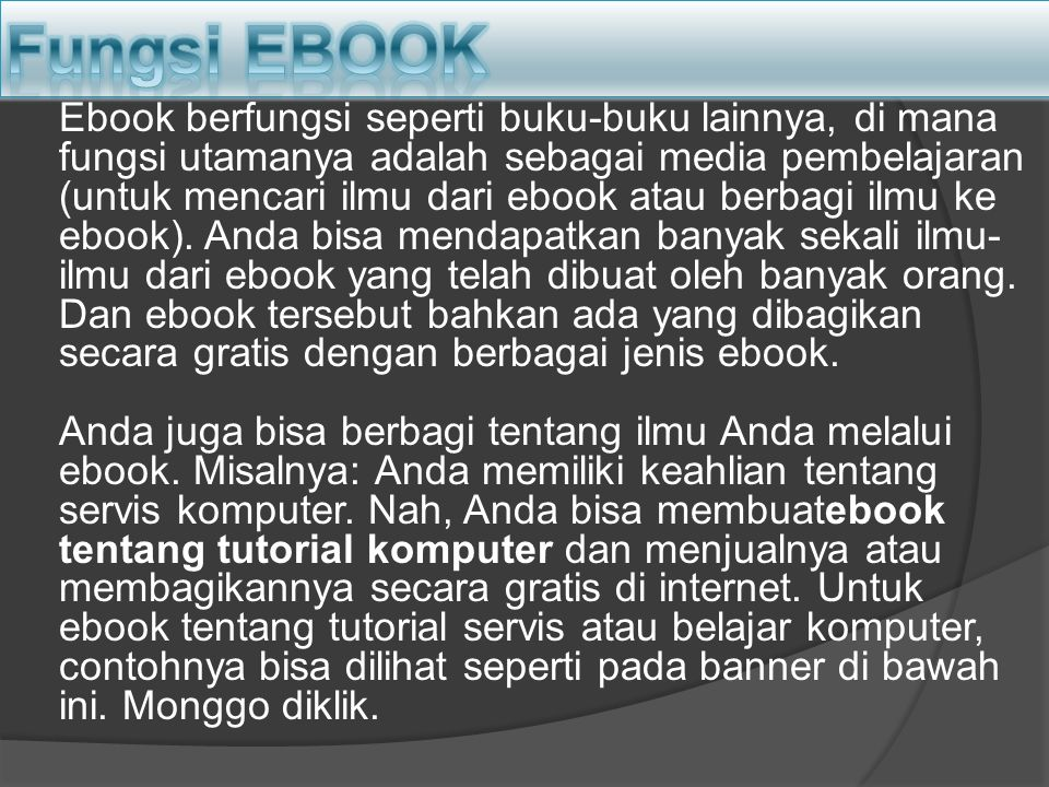 Fungsi EBOOK