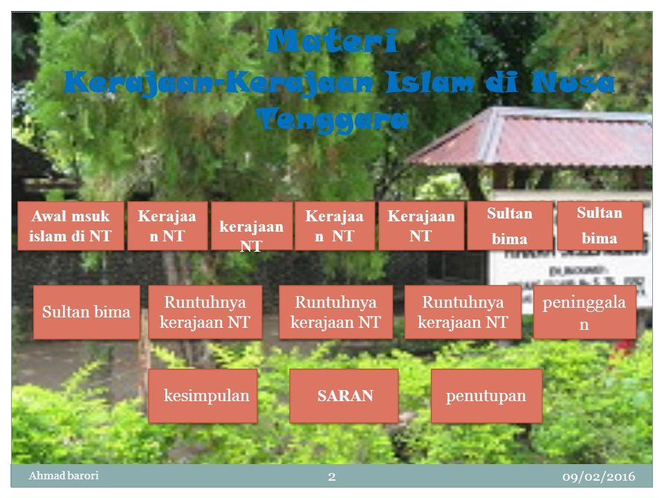 Materi Kerajaan-Kerajaan Islam di Nusa Tenggara