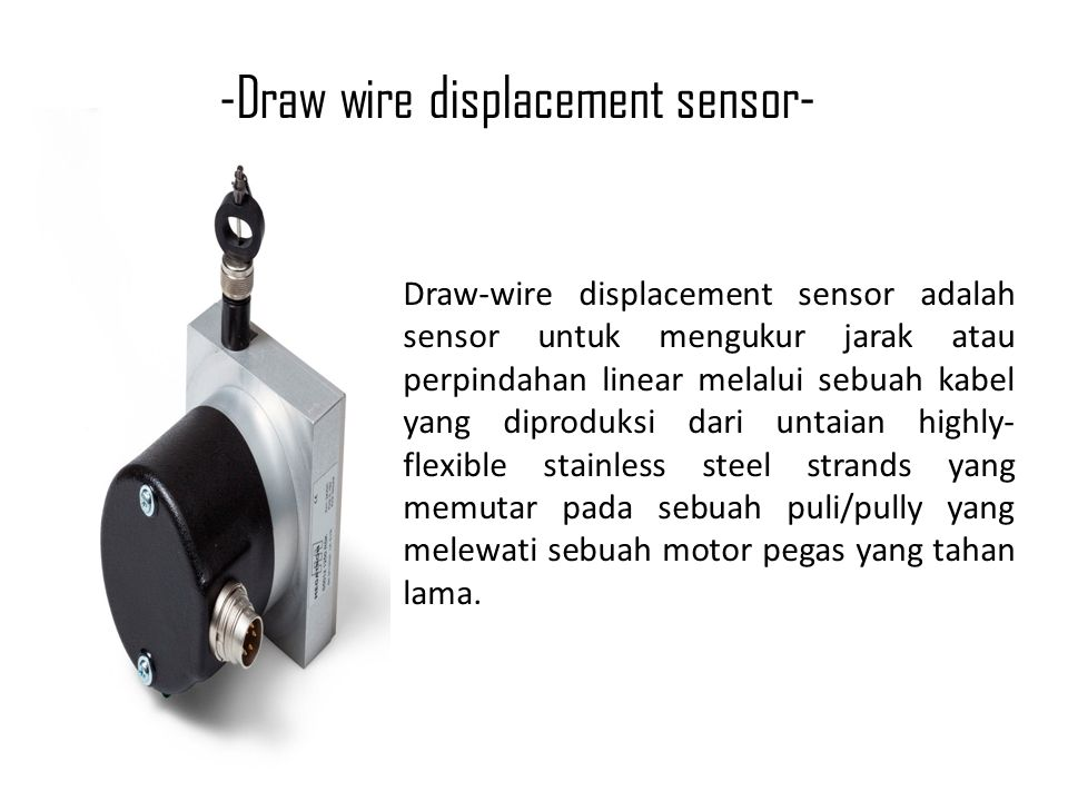-Draw wire displacement sensor-