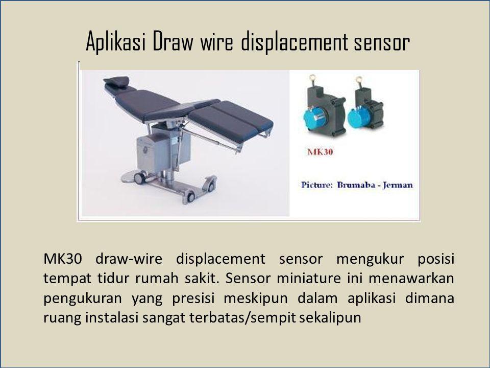 Aplikasi Draw wire displacement sensor
