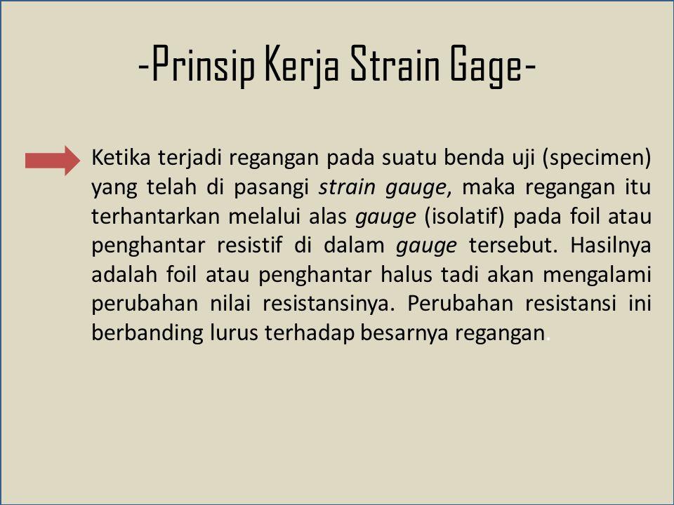 -Prinsip Kerja Strain Gage-