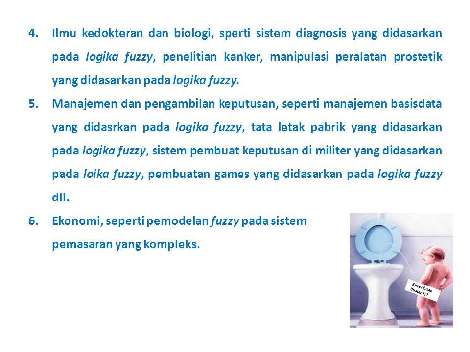 Ilmu kedokteran dan biologi, sperti sistem diagnosis yang didasarkan pada logika fuzzy, penelitian kanker, manipulasi peralatan prostetik yang didasarkan pada logika fuzzy.