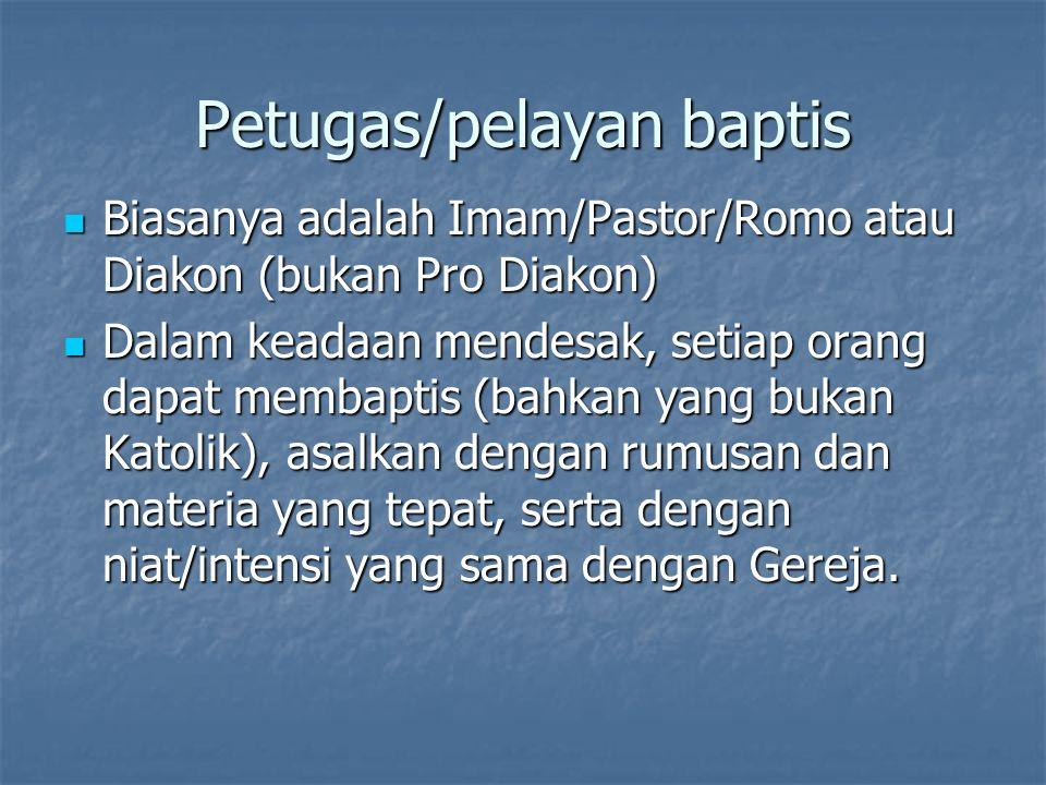 Petugas/pelayan baptis