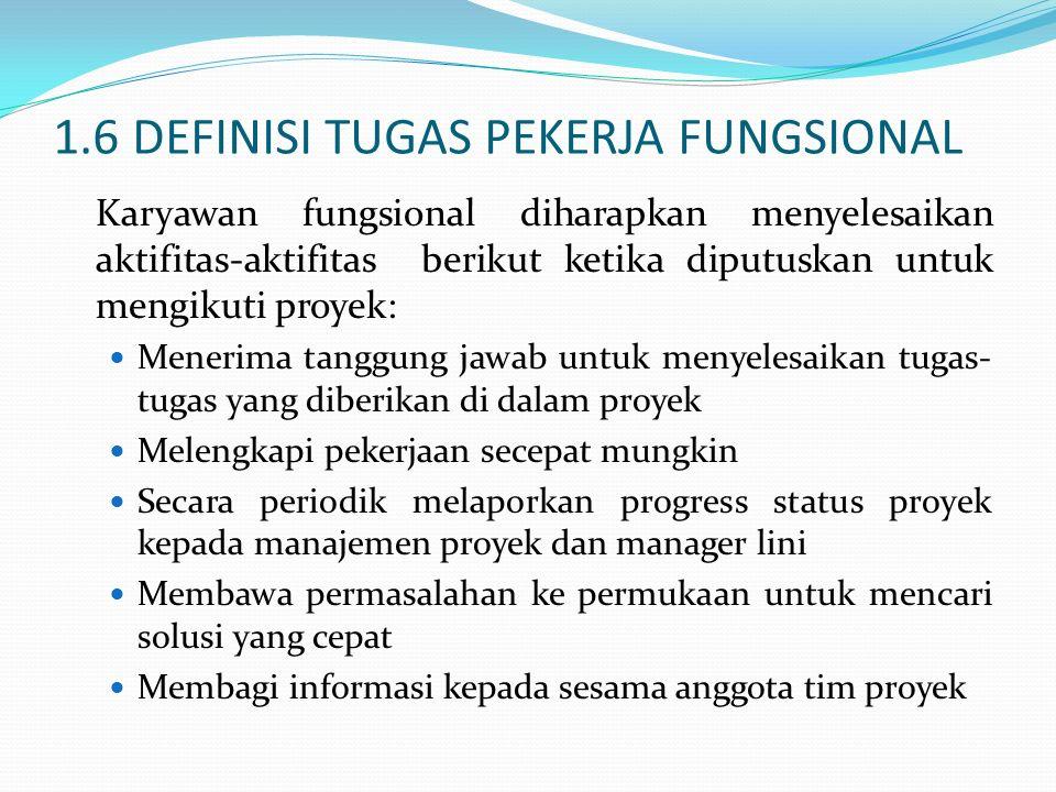 1.6 DEFINISI TUGAS PEKERJA FUNGSIONAL