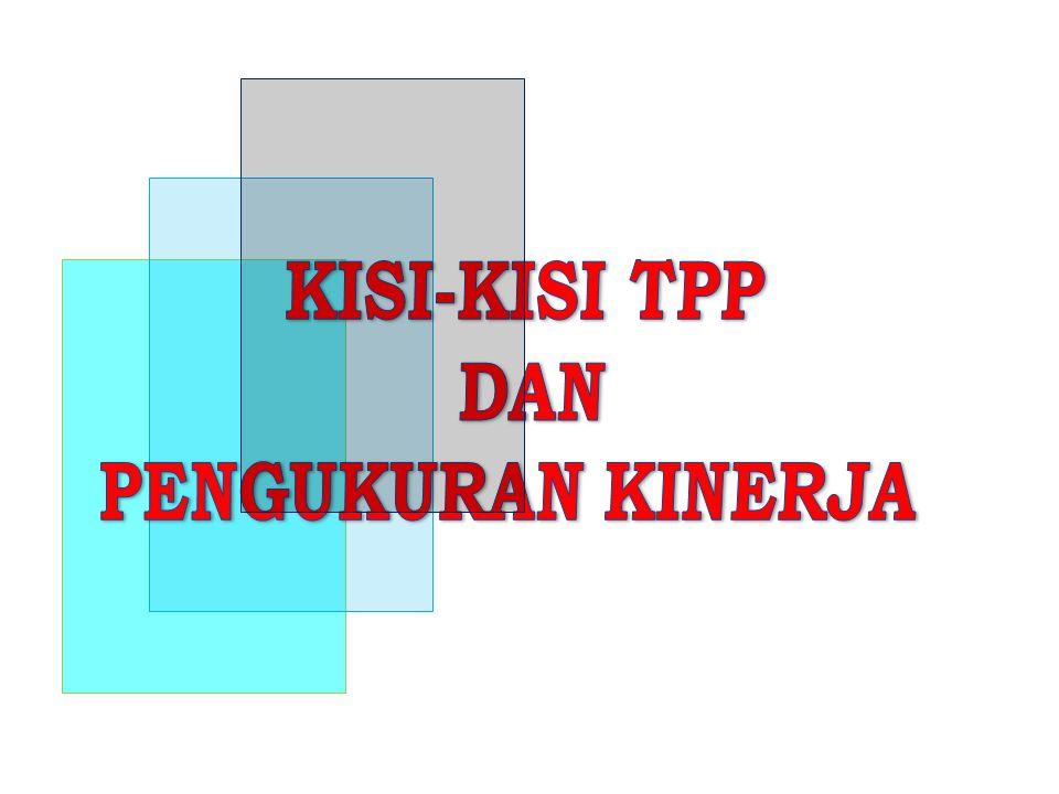 KISI-KISI TPP DAN PENGUKURAN KINERJA