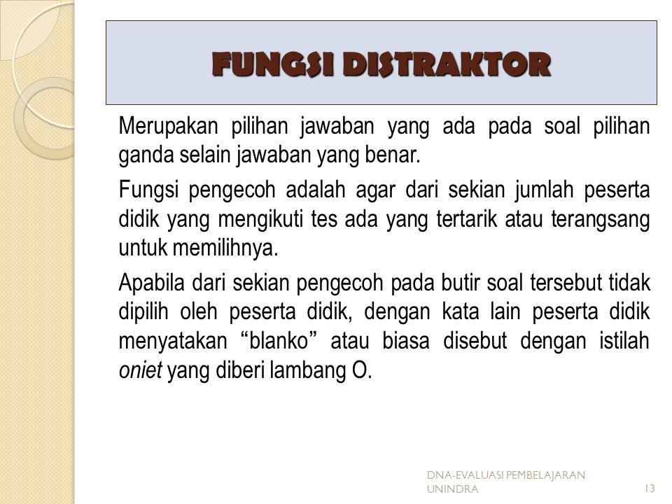 FUNGSI DISTRAKTOR