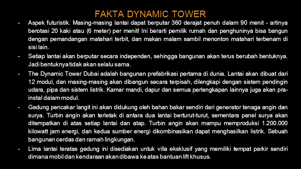 FAKTA DYNAMIC TOWER