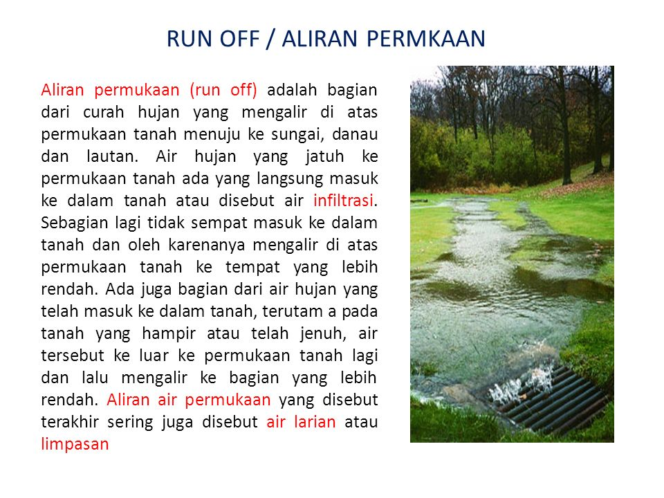 RUN OFF / ALIRAN PERMKAAN
