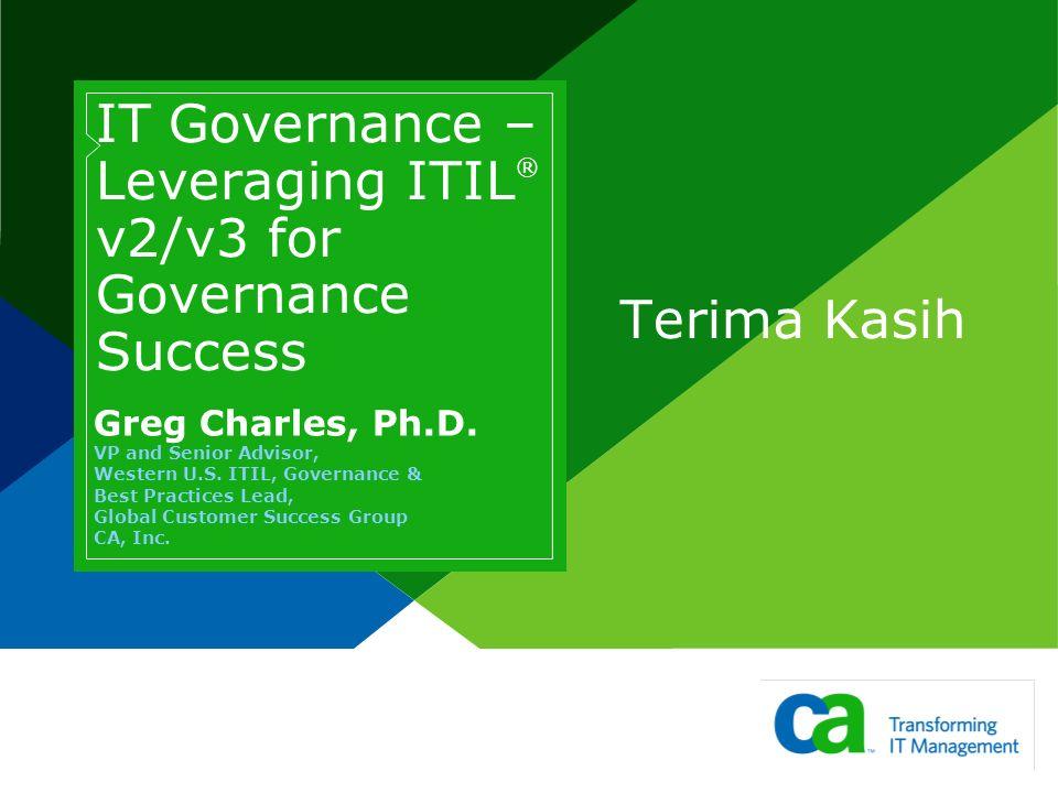 IT Governance – Leveraging ITIL® v2/v3 for Governance Success