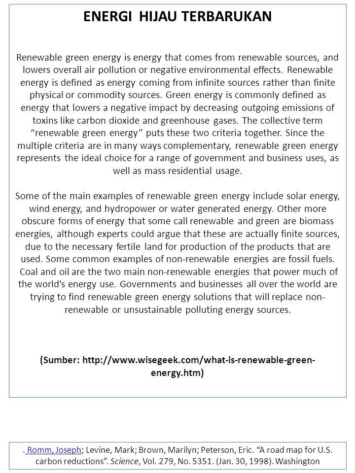 ENERGI HIJAU TERBARUKAN