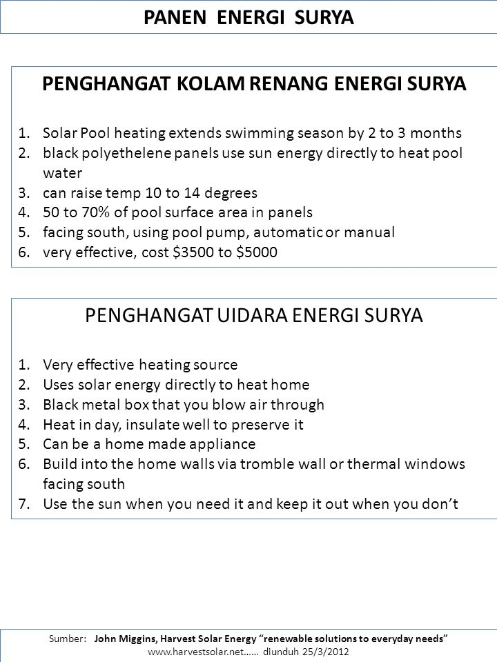 PENGHANGAT KOLAM RENANG ENERGI SURYA