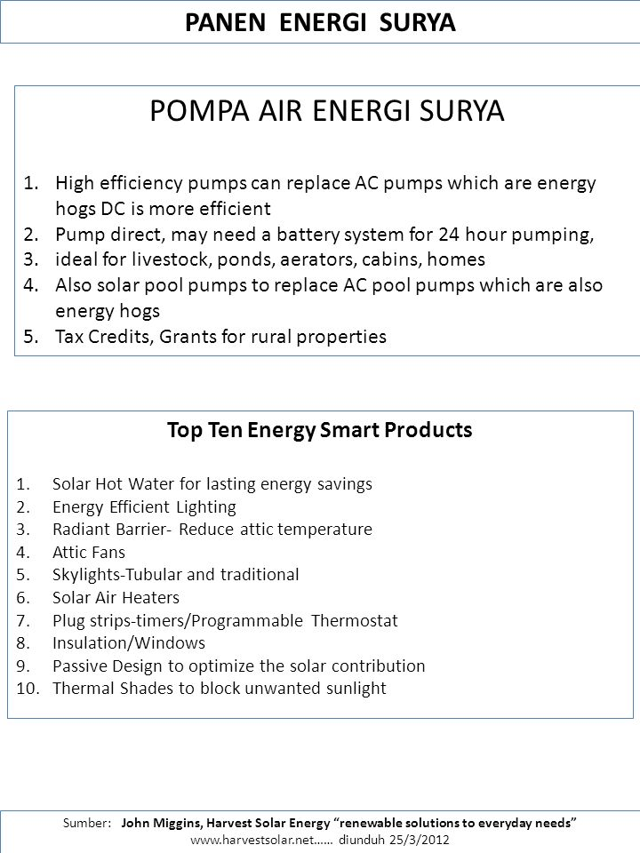 Top Ten Energy Smart Products