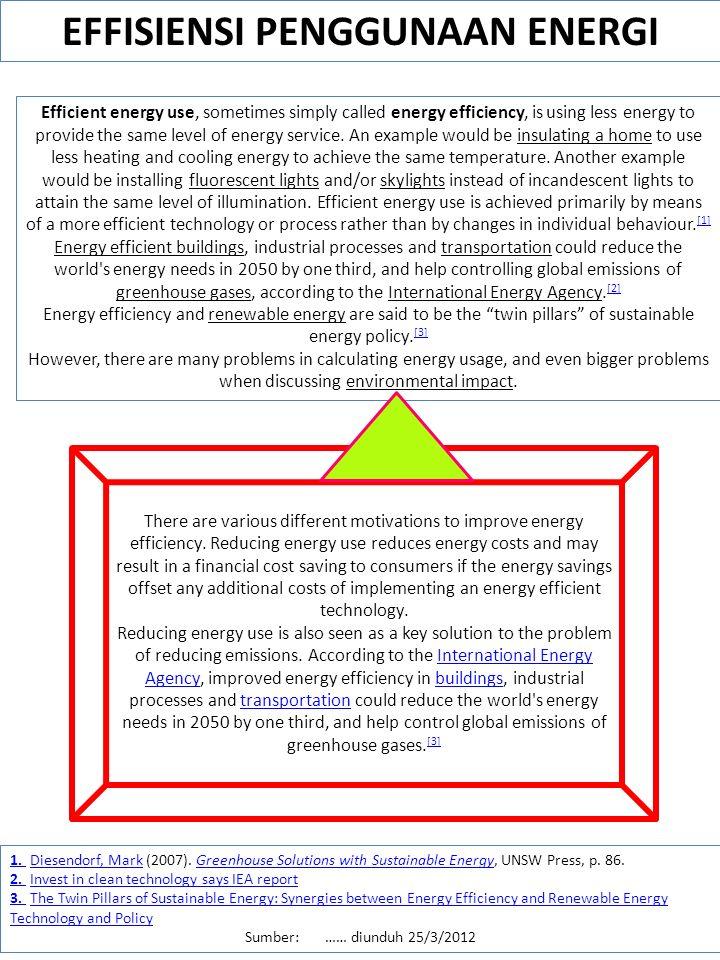 EFFISIENSI PENGGUNAAN ENERGI
