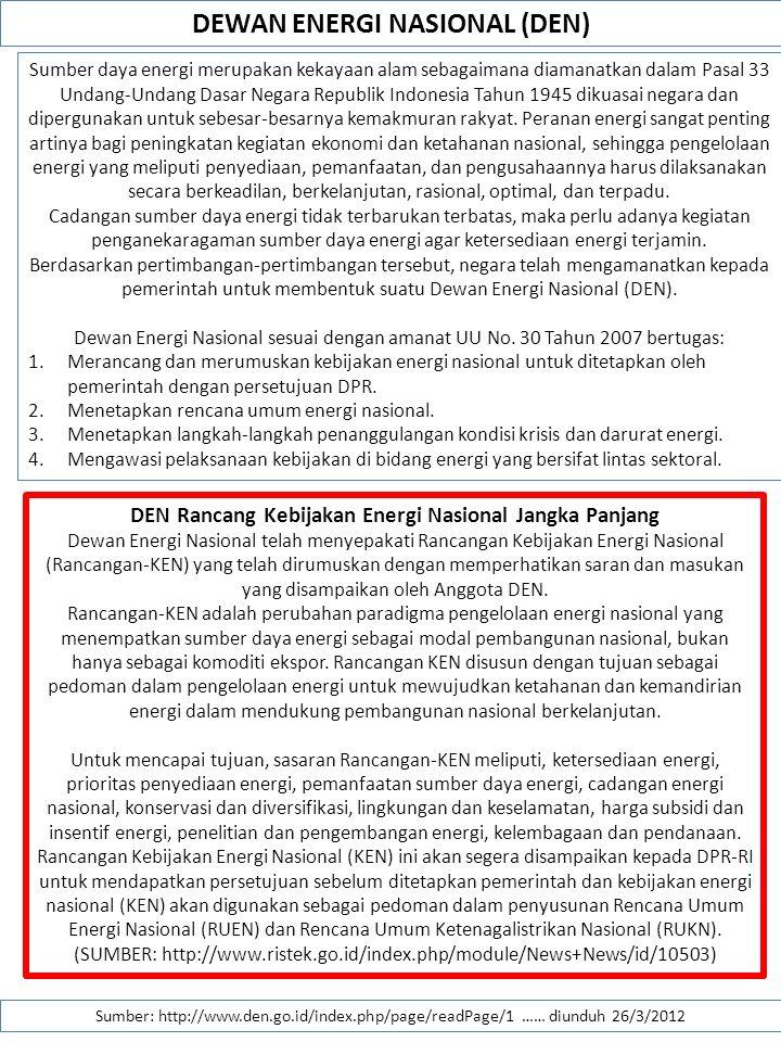 DEWAN ENERGI NASIONAL (DEN)