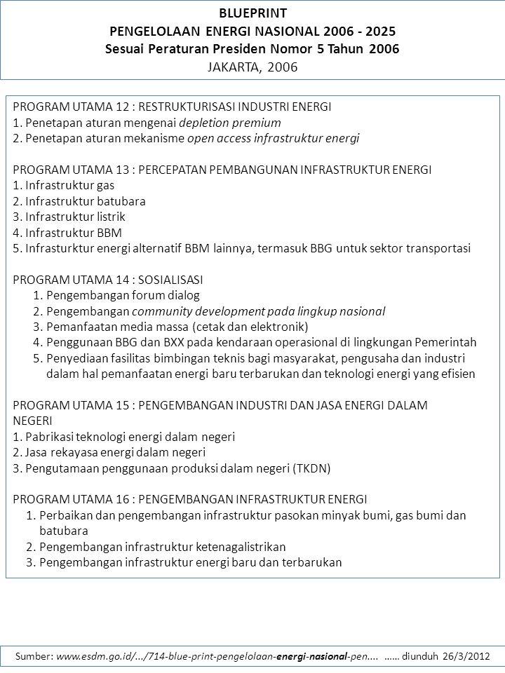 PENGELOLAAN ENERGI NASIONAL 2006 - 2025