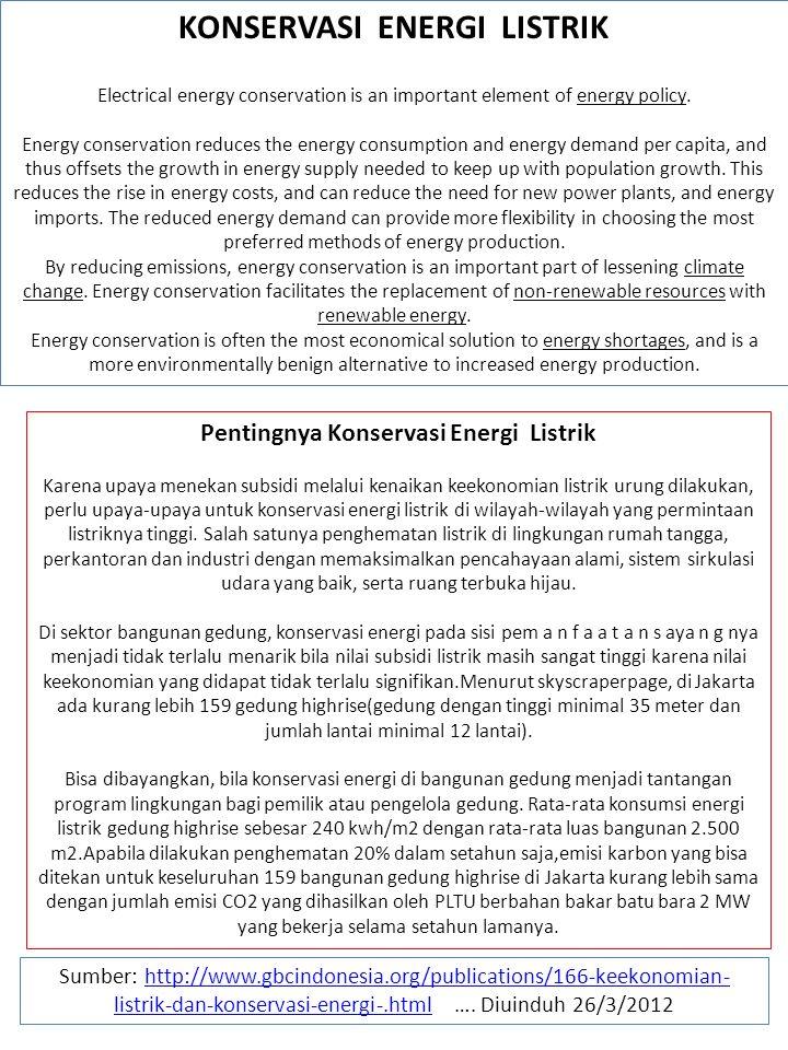 KONSERVASI ENERGI LISTRIK