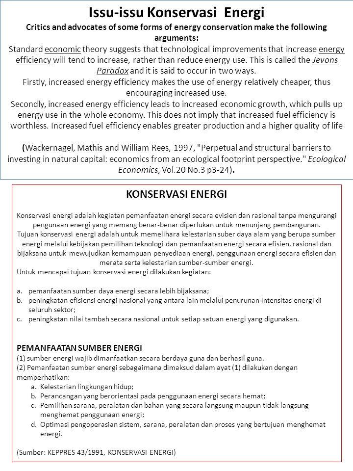 Issu-issu Konservasi Energi