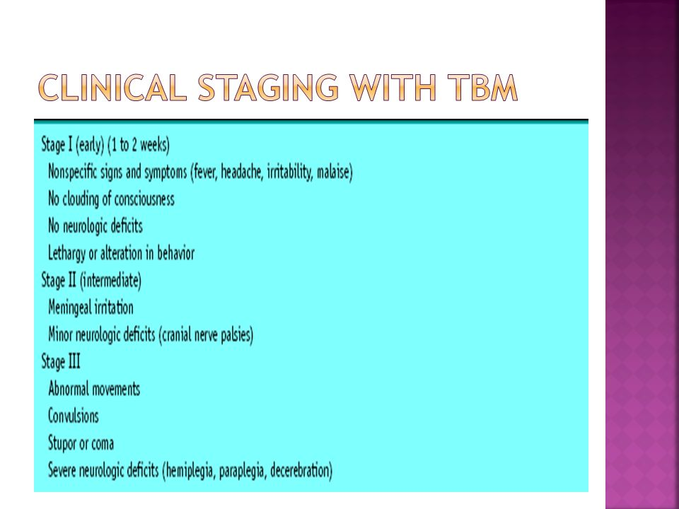 CLINICAL STAGING WITH tbm