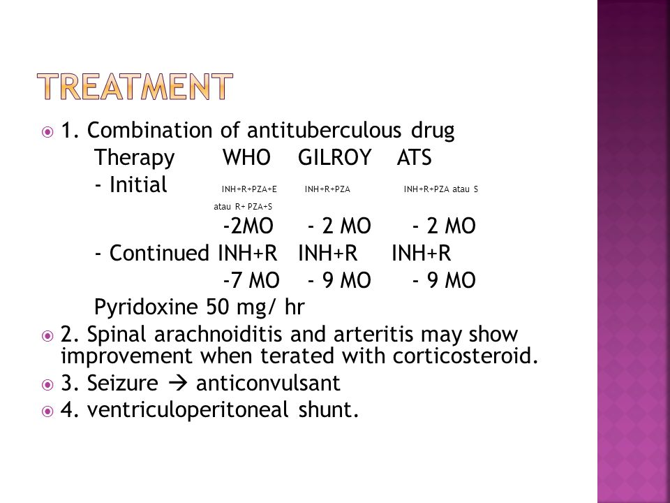 Treatment 1. Combination of antituberculous drug