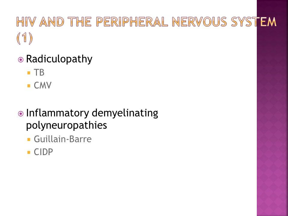 HIV and the peripheral nervous system (1)