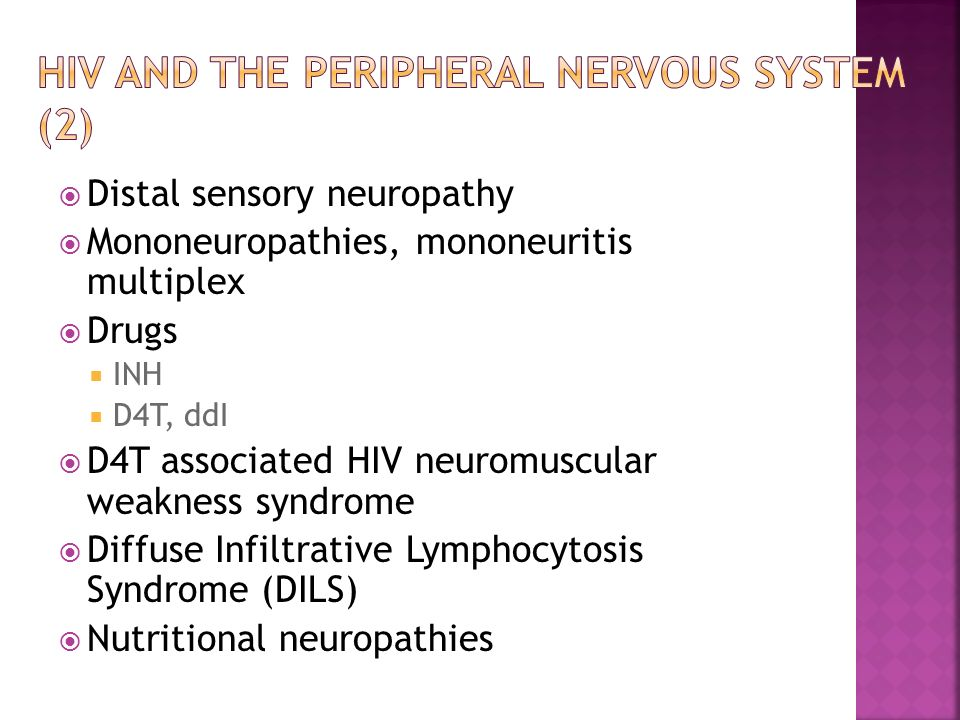 HIV and the peripheral nervous system (2)