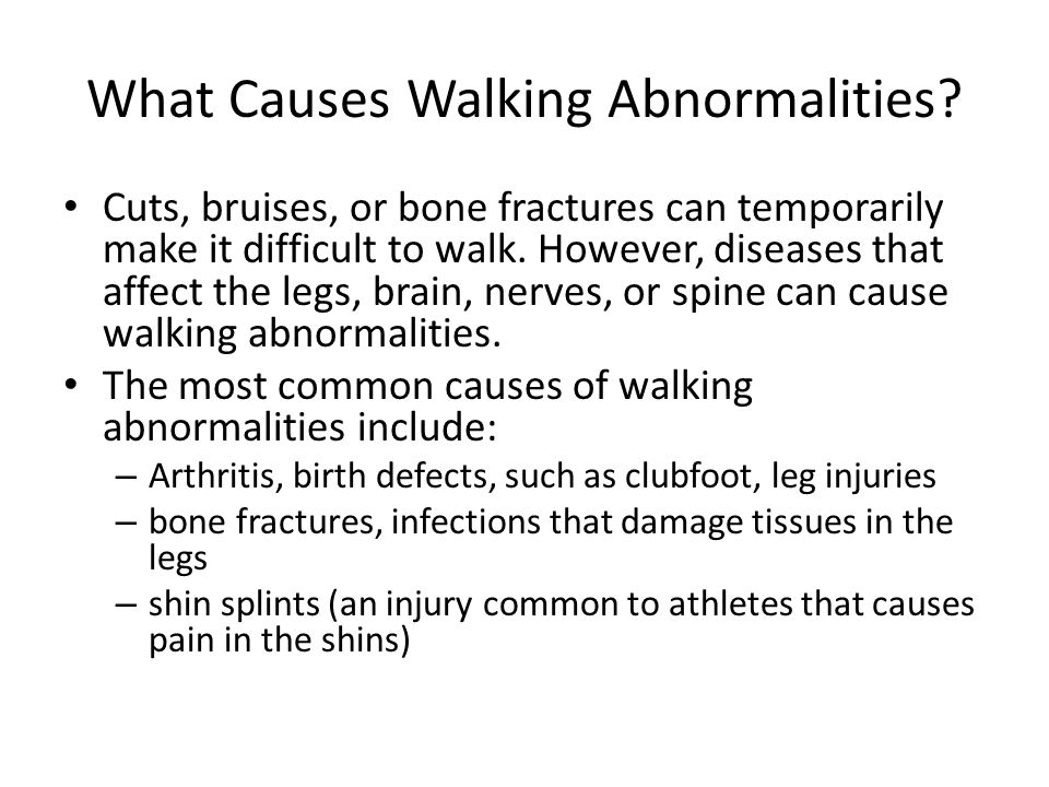 What Causes Walking Abnormalities