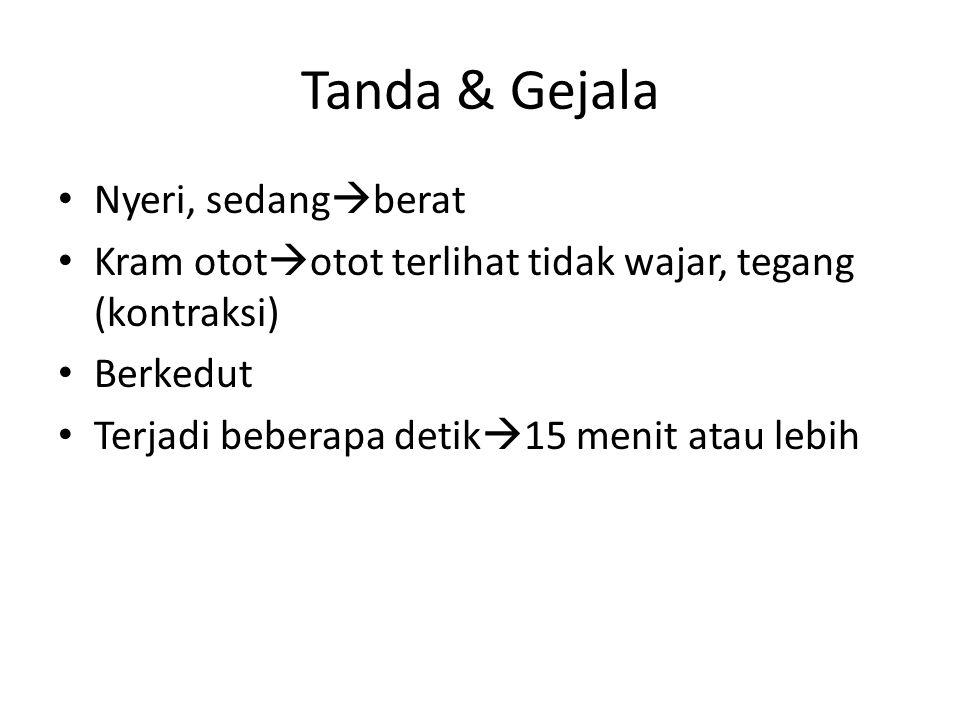 Tanda & Gejala Nyeri, sedangberat