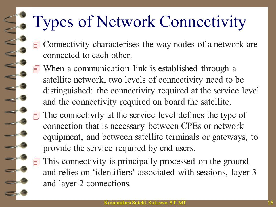 Types of Network Connectivity