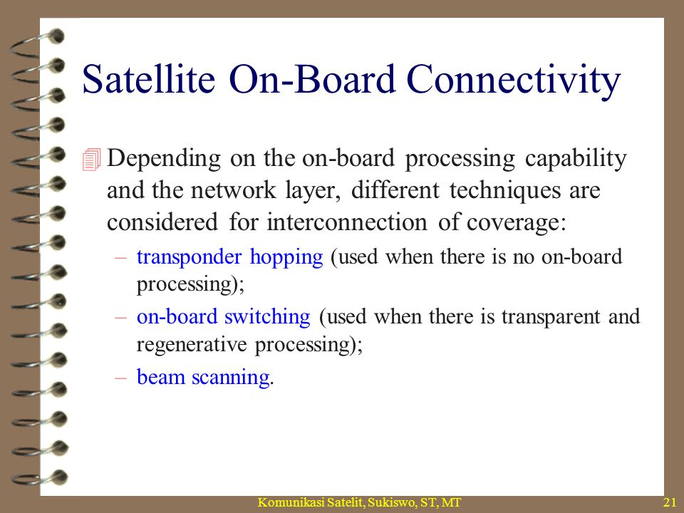 Satellite On-Board Connectivity