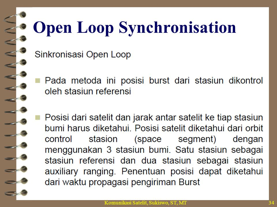 Open Loop Synchronisation