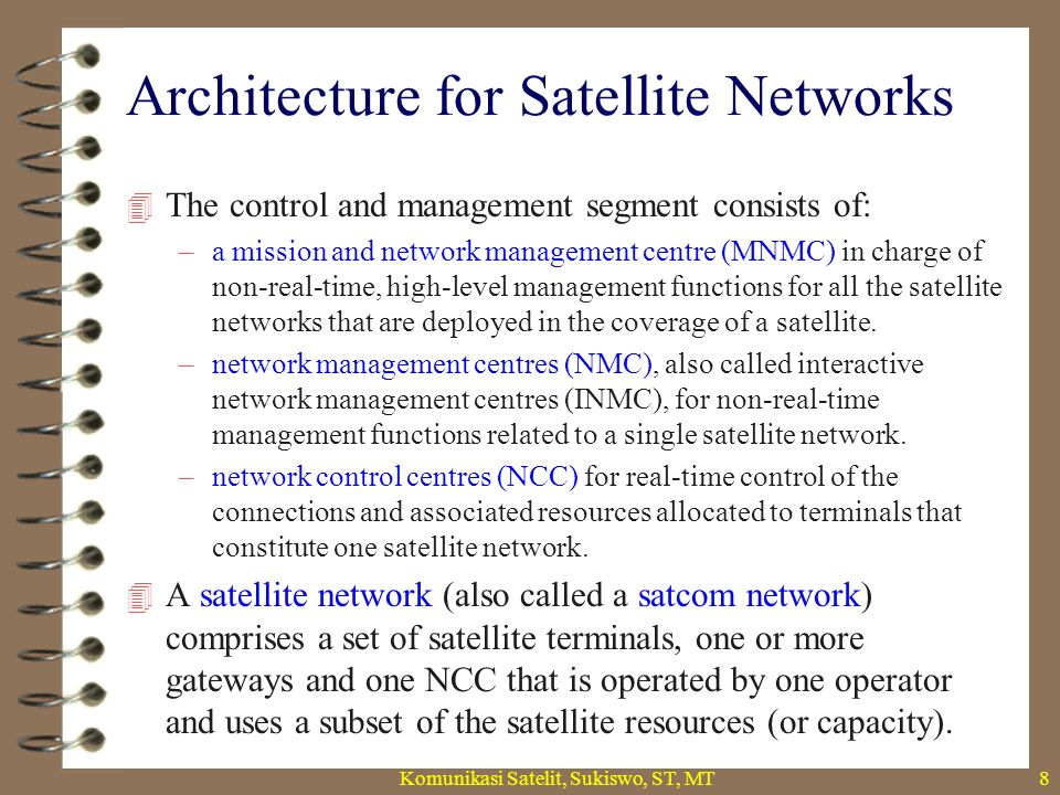Architecture for Satellite Networks