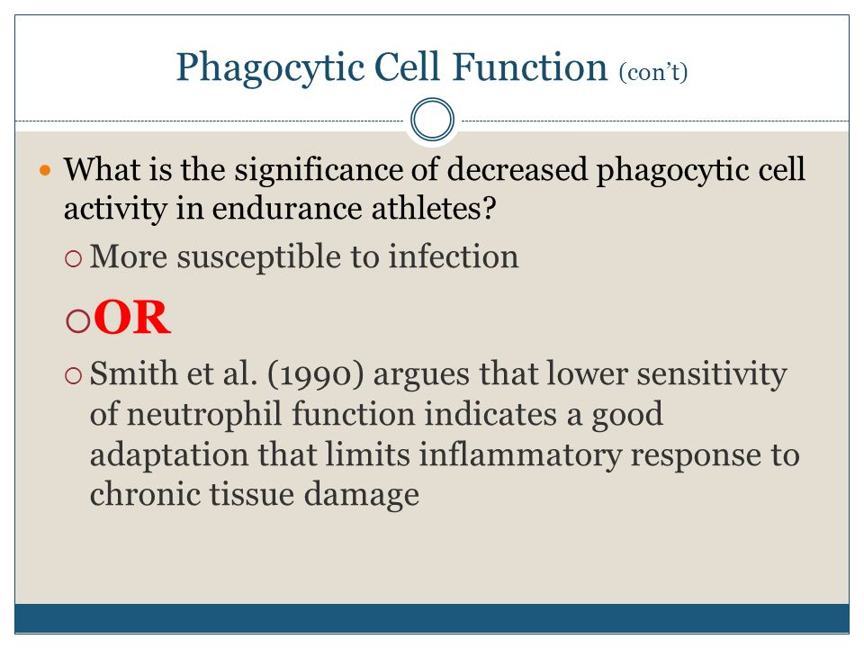 Phagocytic Cell Function (con't)