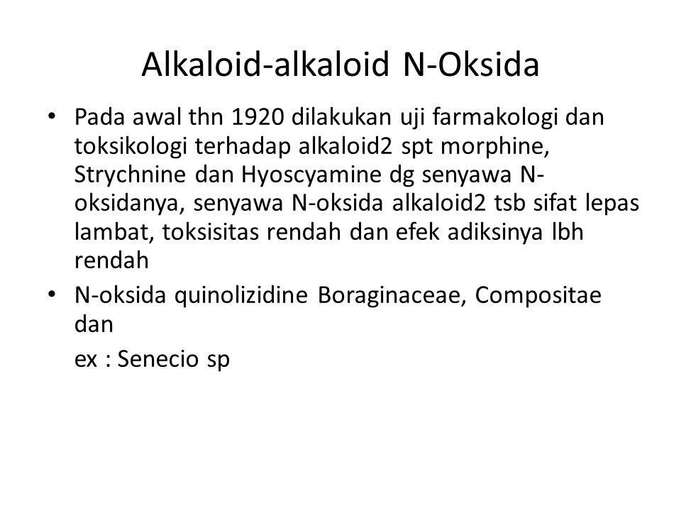 Alkaloid-alkaloid N-Oksida