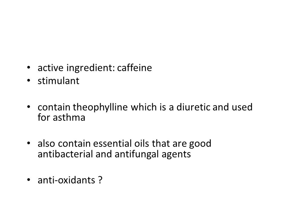 active ingredient: caffeine