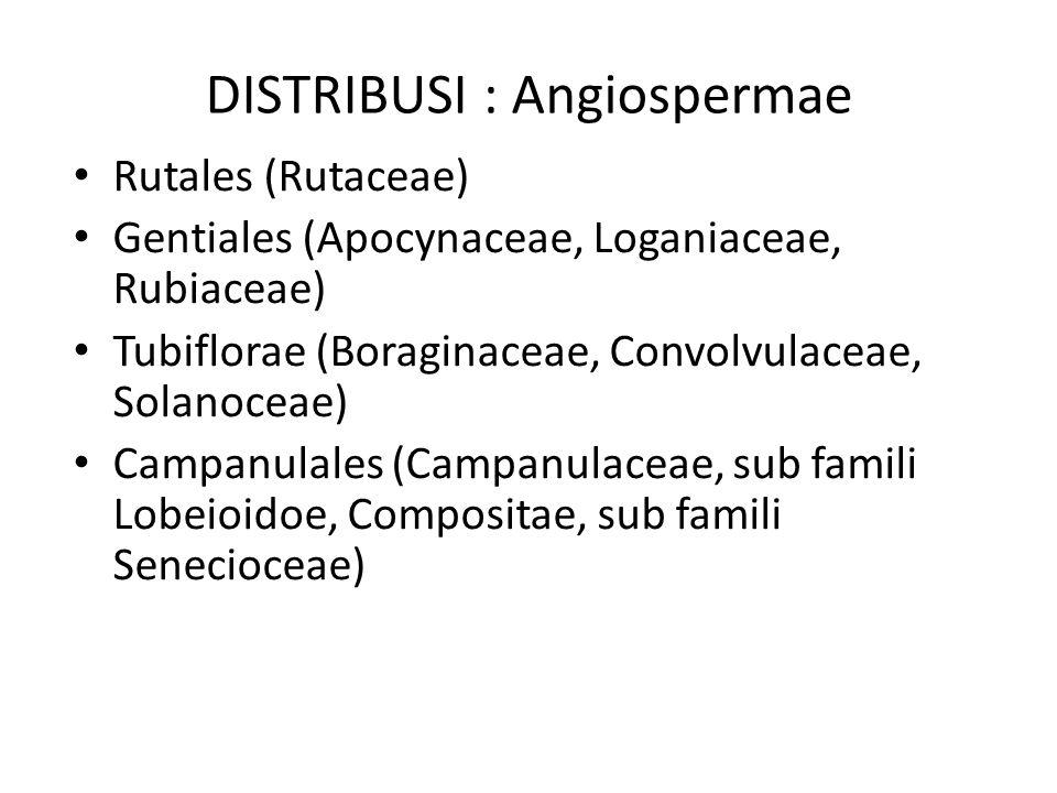 DISTRIBUSI : Angiospermae