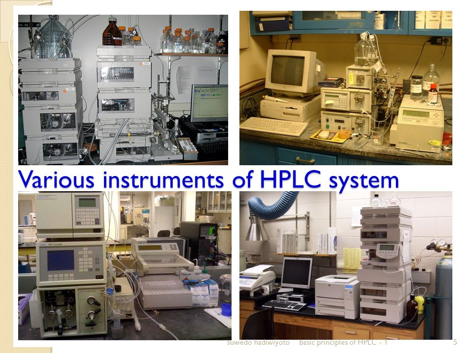 Various instruments of HPLC system